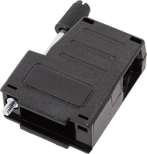 D-SUB pouzdro encitech DSSK-P-09-L-K 6260-0107-01, pólů 9, 180 °, 45 °, černá, 1 ks