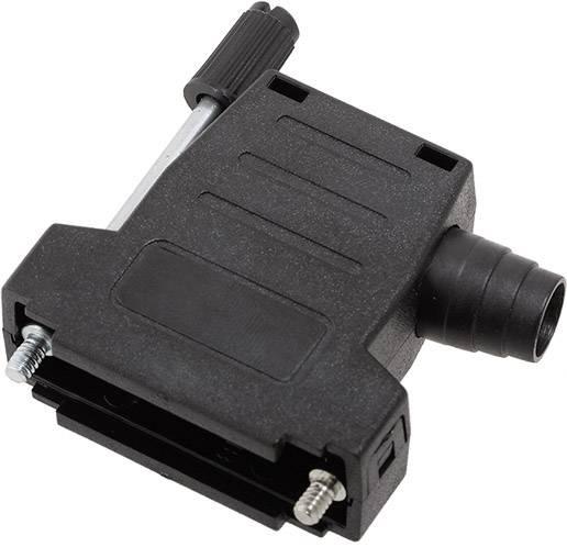 D-SUB pouzdro encitech DSSK-P-15-L+G-K 6260-0107-42, pólů 15, plast, 180 °, 45 °, černá, 1 ks