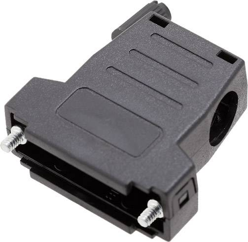 D-SUB pouzdro encitech DSSK-P-25-L+G-K 6260-0107-43, pólů 25, plast, 180 °, 45 °, černá, 1 ks