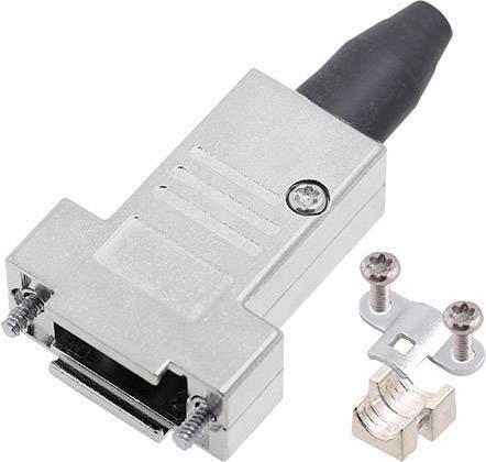 D-SUB pouzdro encitech DTSL09-RG-SJS-T-K 6560-0217-31, pólů 9, 180 °, stříbrná, 1 ks