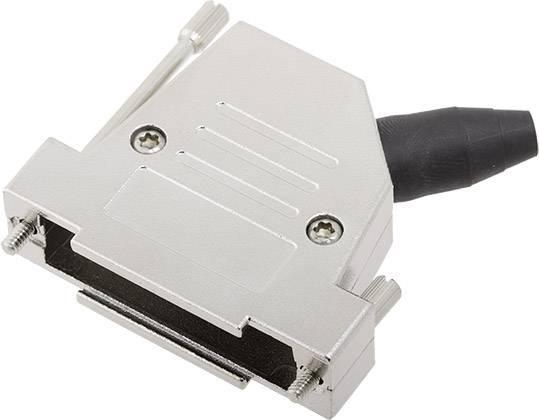 D-SUB pouzdro encitech DTSL25-RG-LJS-S-K 6560-0248-33, pólů 25, 45 °, stříbrná, 1 ks