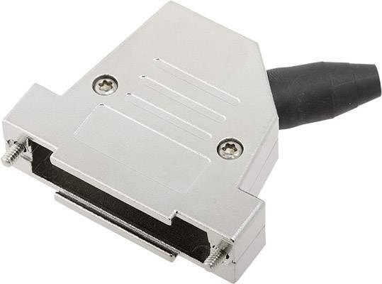 D-SUB pouzdro encitech DTSL25-RG-SJS-S-K 6560-0218-33, pólů 25, 45 °, stříbrná, 1 ks