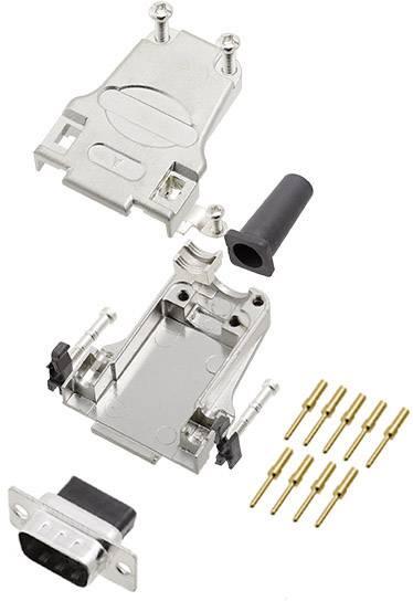 Sada D-SUB kolíkové lišty encitech DTZF09-DBCP-K, 180 °, pólů 9, krimpované připojení, 1 ks