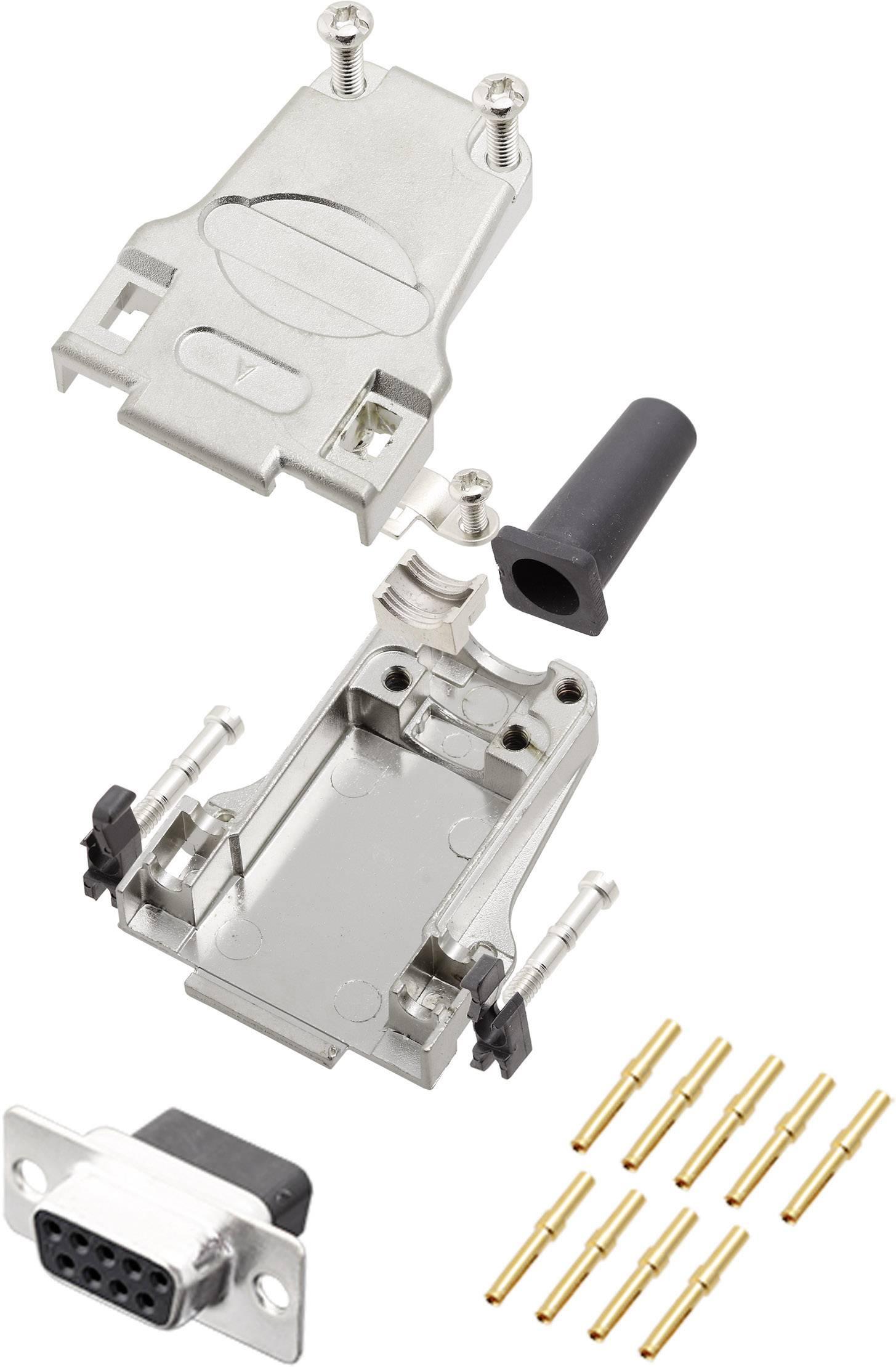 Sada D-SUB zásuvková lišta encitech DTZF09-DBCS-K, 180 °, pólů 9, krimpované připojení, 1 ks