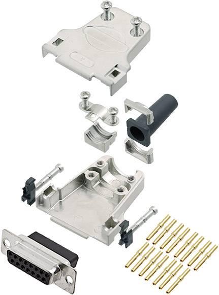Sada D-SUB zásuvková lišta encitech DTZF15-DBCS-K, 180 °, pólů 15, krimpované připojení, 1 ks