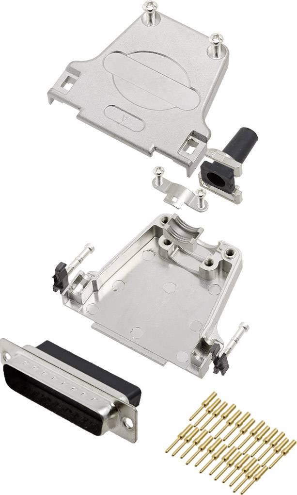 Sada D-SUB kolíkové lišty encitech DTZF25-DBCP-K, 180 °, pólů 25, krimpované připojení, 1 ks
