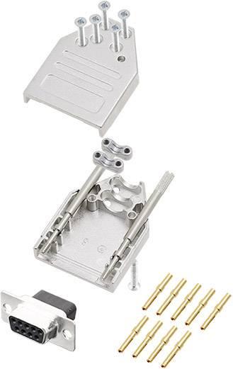 Sada D-SUB zásuvková lišta encitech DTZI09-DBCS-K, 180 °, pólů 9, krimpované připojení, 1 ks