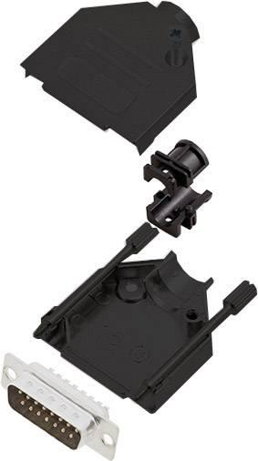 Sada D-SUB kolíkové lišty encitech DTZK15-BK-DBP-K, 180 °, pólů 15, pájecí kalíšek, 1 ks