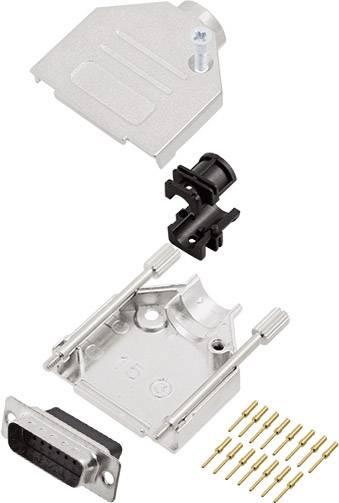 Sada D-SUB kolíkové lišty encitech DTZK15-DBCP-K, 180 °, pólů 15, krimpované připojení, 1 ks