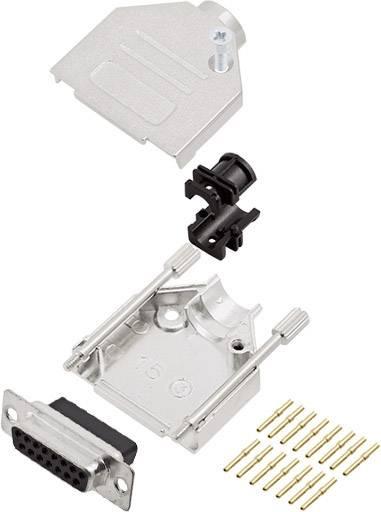 Sada D-SUB zásuvková lišta encitech DTZK15-DBCS-K, 180 °, pólů 15, krimpované připojení, 1 ks