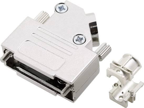 D-SUB pouzdro encitech DTZK15-PCBK-K 6560-3105-02, pólů 15, 180 °, stříbrná, 1 ks