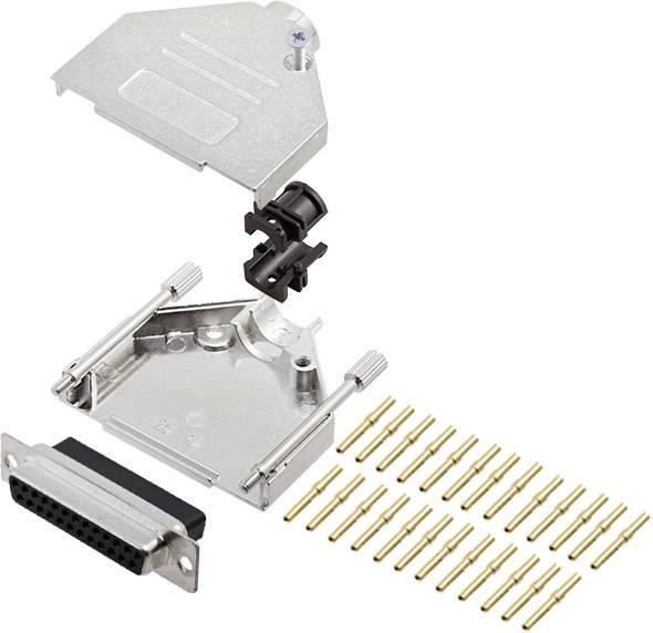Sada D-SUB zásuvková lišta encitech DTZK25-DBCS-K, 180 °, pólů 25, krimpované připojení, 1 ks