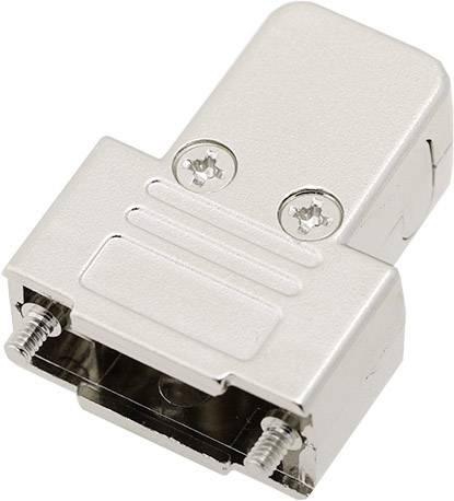 D-SUB pouzdro encitech TRI-M-9-K 6550-0100-01, pólů 9, plast, pokovený, 180 °, 45 °, 45 °, stříbrná, 1 ks
