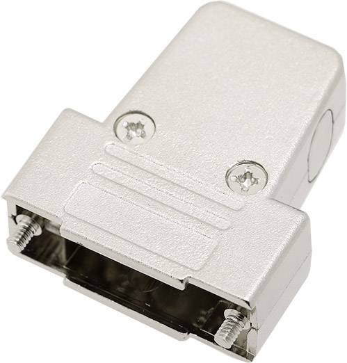 D-SUB pouzdro encitech TRI-M-15-K 6550-0100-02, pólů 15, plast, pokovený, 180 °, 45 °, 45 °, stříbrná, 1 ks