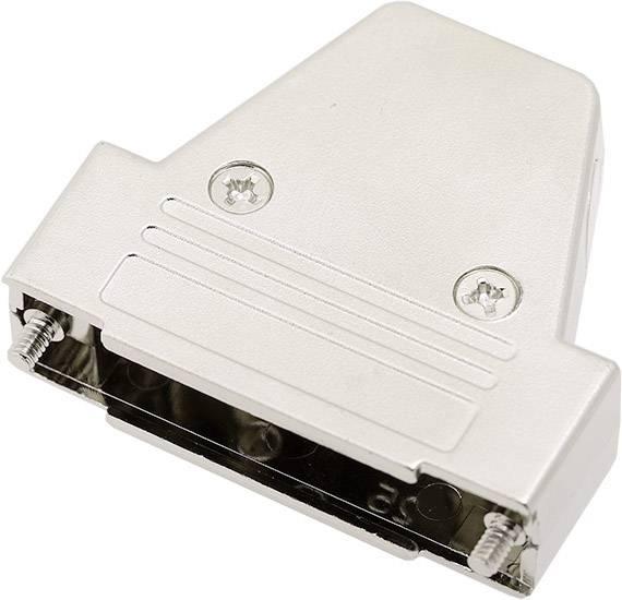 D-SUB pouzdro encitech TRI-M-25-K 6550-0100-03, pólů 25, plast, pokovený, 180 °, 45 °, 45 °, stříbrná, 1 ks
