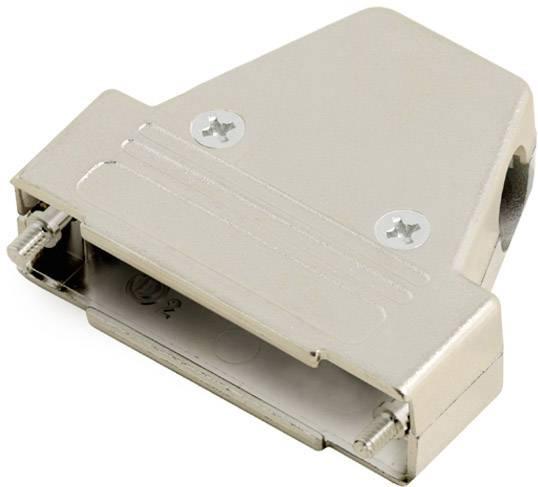 D-SUB pouzdro encitech TRI-M-37-K 6550-0100-04, pólů 37, plast, pokovený, 180 °, 45 °, 45 °, stříbrná, 1 ks