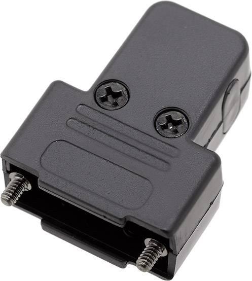 D-SUB pouzdro encitech TRI-P-09-K 6550-0101-01, pólů 9, plast, 180 °, 45 °, 45 °, černá, 1 ks