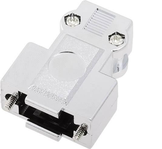D-SUB pouzdro encitech DFCK 09-M-K 1520-0105-01, pólů 9, plast, pokovený, 180 °, stříbrná, 1 ks
