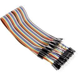 Drátová propojka MAKERFACTORY - zástrčka / zástrčka 40pinová, 30 cm, plochý kabel VMA413