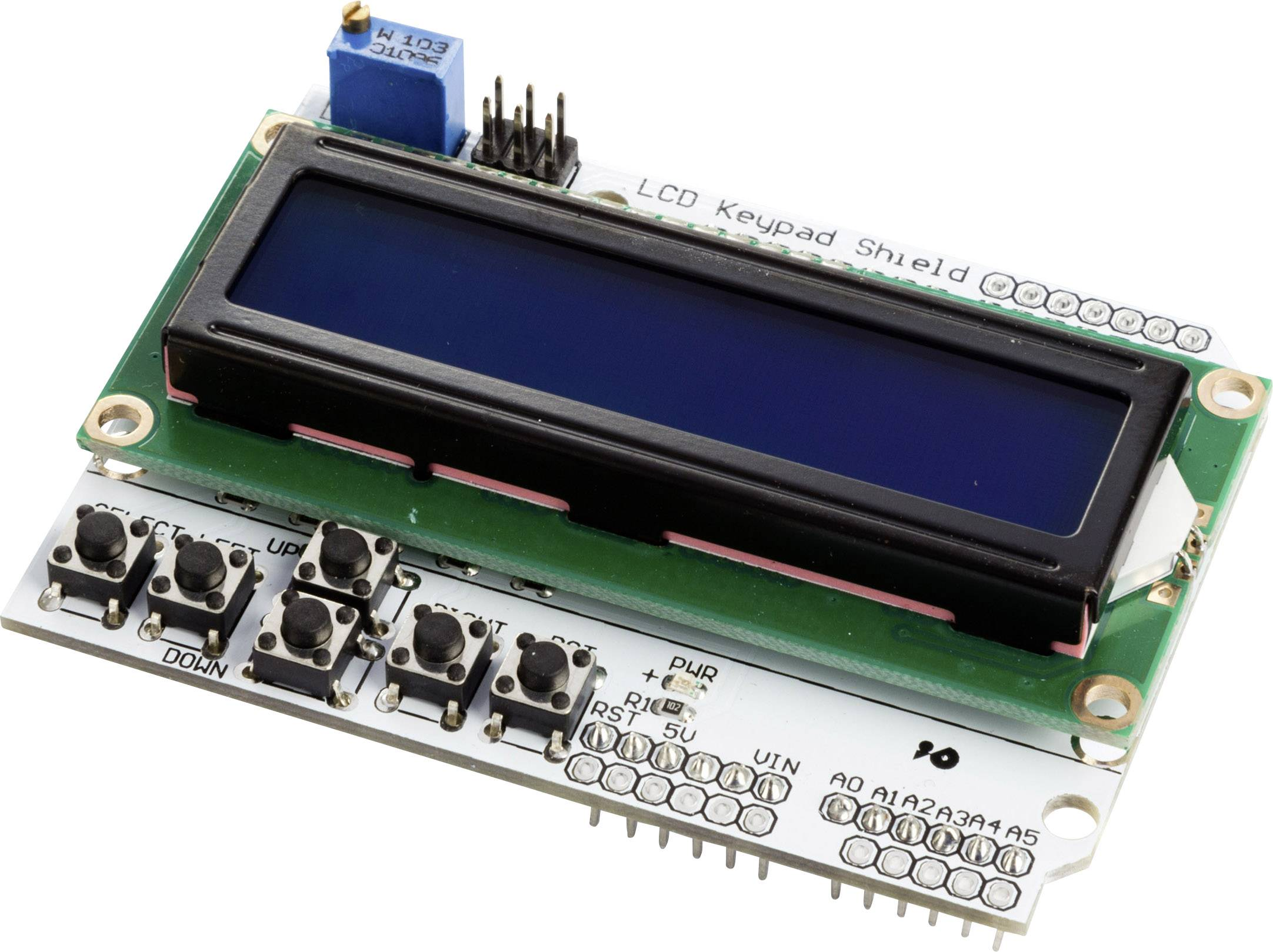 MAKERFACTORY LCD1602 – LCD a Keypad shield pro Arduino® VMA203