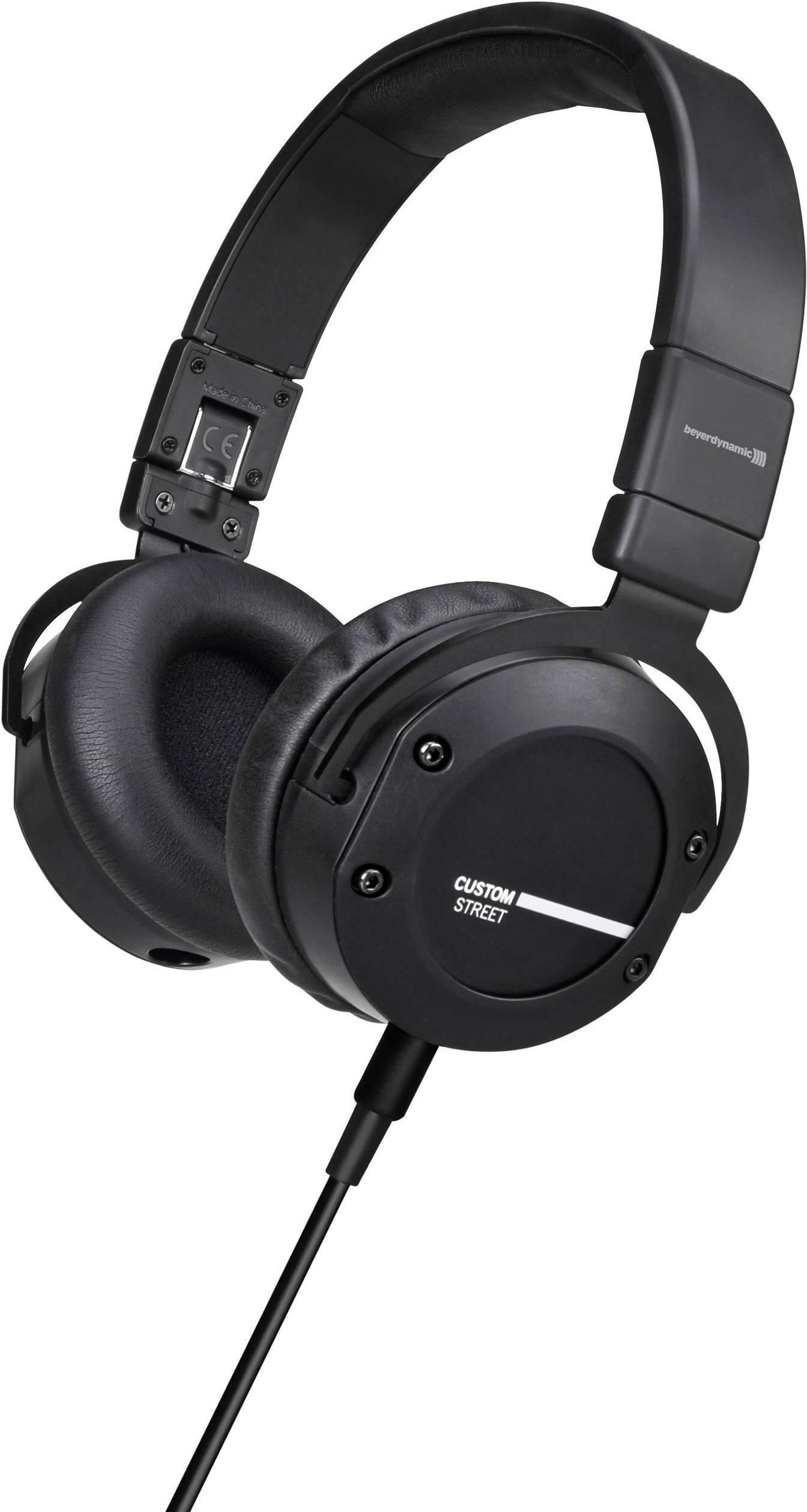 Skladacie Hi-Fi slúchadlá Beyerdynamic Custom Street 706205, s púzdrom, čierna