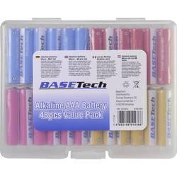 Mikrotužková baterie AAA alkalicko-manganová Basetech 1170 mAh, 1.5 V, 48 ks