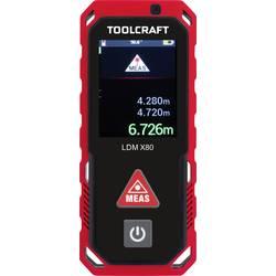 Laserový měřič vzdálenosti TOOLCRAFT TO-4840800, max. rozsah 80 m