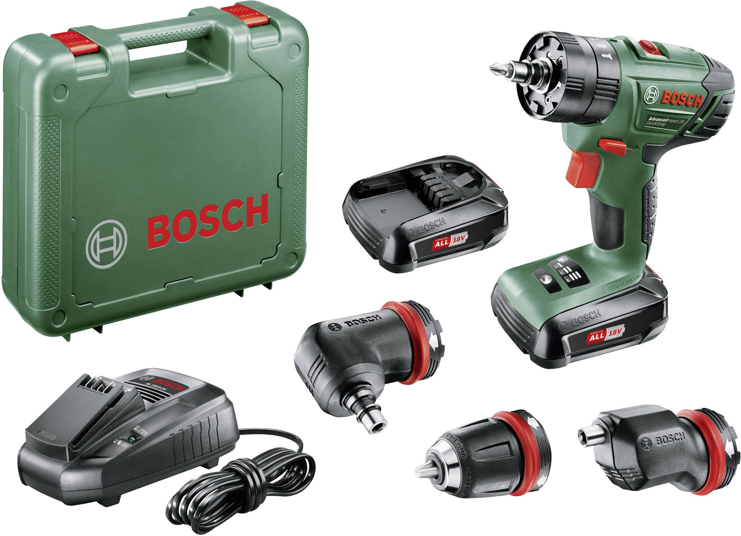 Akupríklepová vŕtačka Bosch Home and Garden AdvancedImpact 18 06039A3401, 18 V, 1.5 Ah, Li-Ion akumulátor