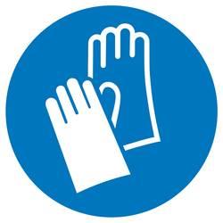 Příkazová tabulka Používejte ochranu rukou, Hygiena a vzdálenost samolepicí fólie (Ø) 50 mm ISO 7010 6 ks