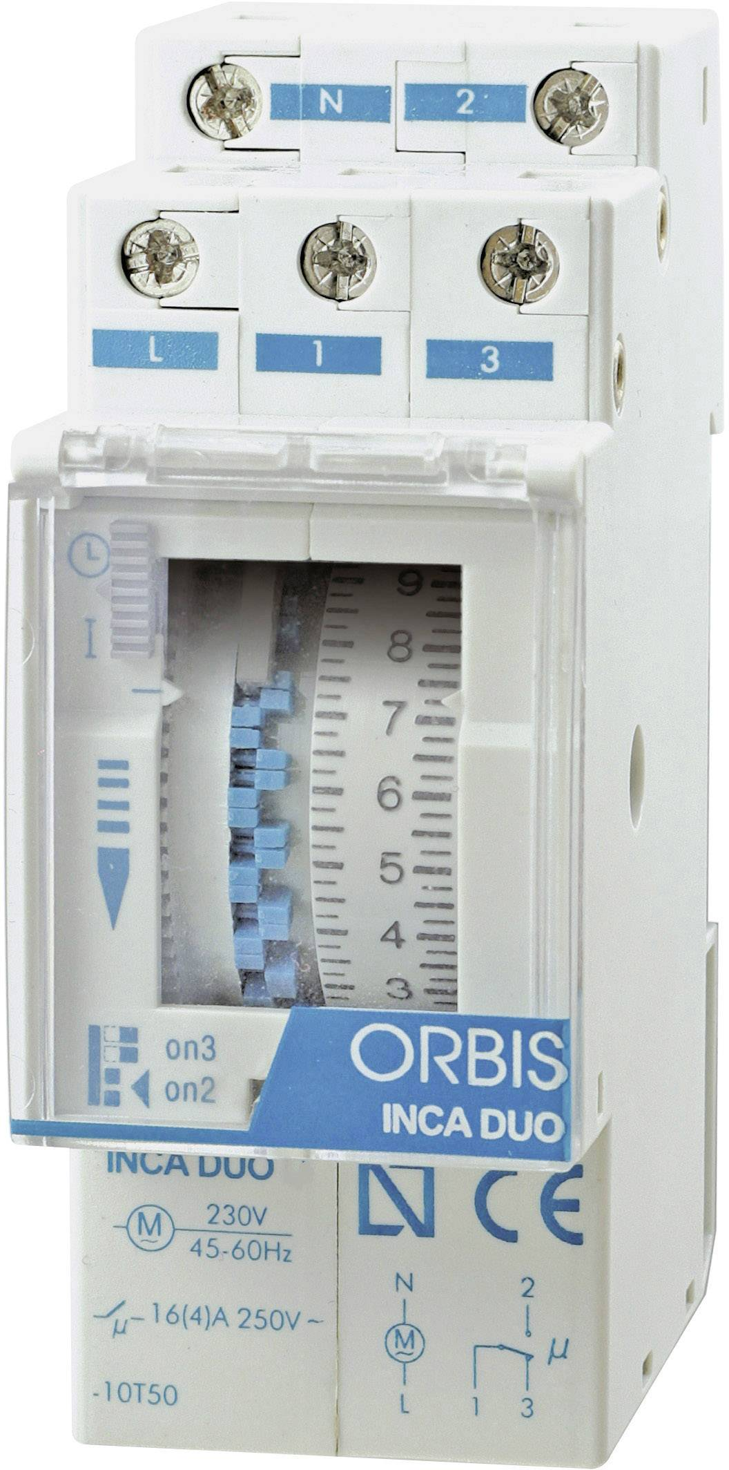 Časové relé - časovač ORBIS Zeitschalttechnik INCA DUO QRD OB330232, 1 ks