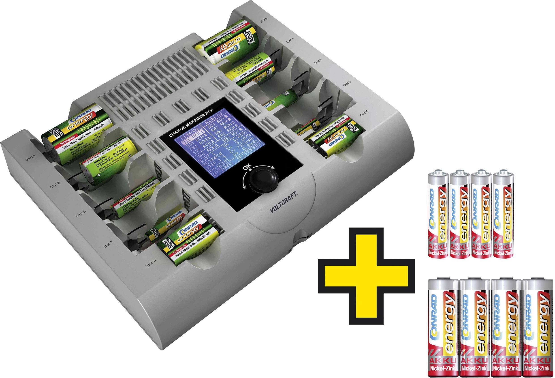 Nabíjačka na okrúhle akumulátory VOLTCRAFT micro (AAA), mignon (AA), baby (C), mono (D), 9 V blok