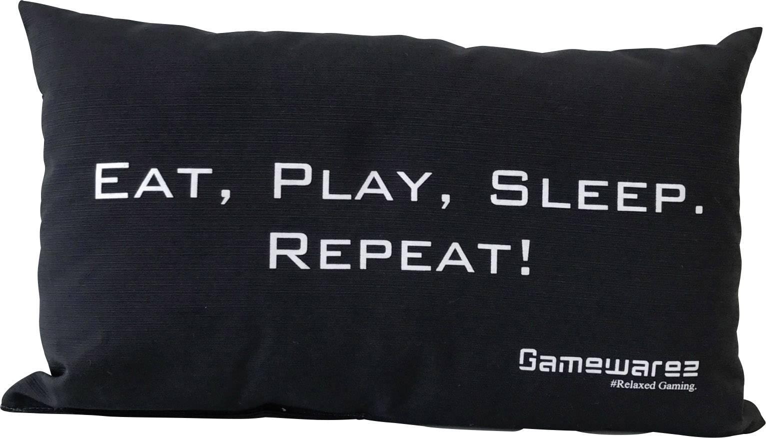 """GAMEWAREZ """"EAT, PLAY, SLEEP. REPEAT!"""", PIA04EPSR0, čierna"""