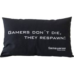 "GAMEWAREZ ""GAMERS DON'T DIE, THEY RESPAWN!"", PIA04GDD00, čierna"