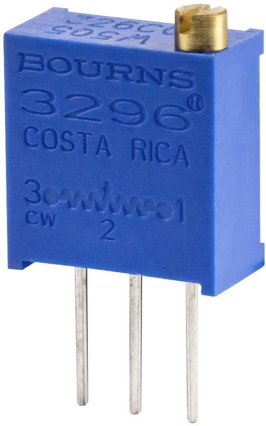 Cermetový trimr Bourns 3296W-1-501RLF, 500 Ohm, 0.5 W, 1 ks