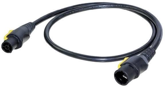 Napájecí kabel Neutrik NKPF-M-A-1.5 [1x zásuvka PowerCon - 1x zástrčka PowerCon], 1.50 m, černožlutá
