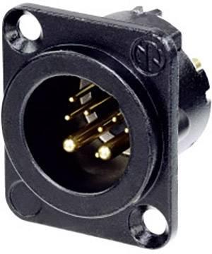 XLR konektor Neutrik – přírubová zástrčka, rovná, pólů 10, černá, 1 ks
