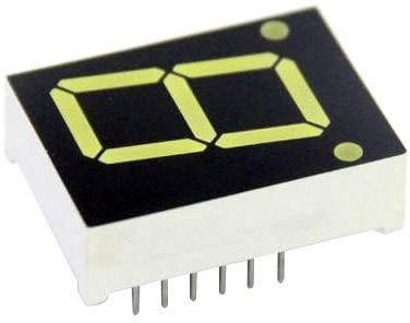 7-segmentový displej TRU COMPONENTS TRU-7S1-39GAG, číslic 1, 9.9 mm, 2.1 V, zelená