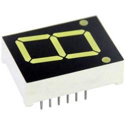 7segmentový displej TRU COMPONENTS TRU-7S1-56GAG, TRU-7S1-56GAG, číslic 1, 14.2 mm, 2.1 V, zelená