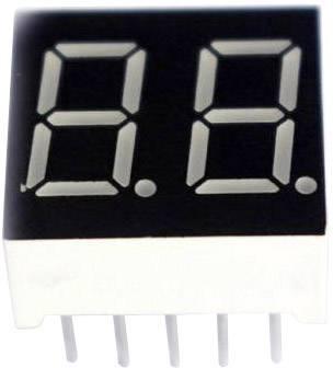 7-segmentový displej TRU COMPONENTS TRU-7S2-30BAG, číslic 2, 7.62 mm, 3.2 V, modrá