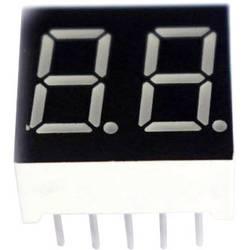 7segmentový displej TRU COMPONENTS TRU-7S2-52BAG, TRU-7S2 52BAG, číslic 2, 13.2 mm, 3.2 V, modrá