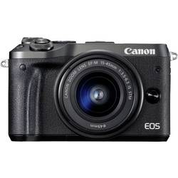 Systémový fotoaparát Canon EOS M6, 24.2 Megapixel, černá
