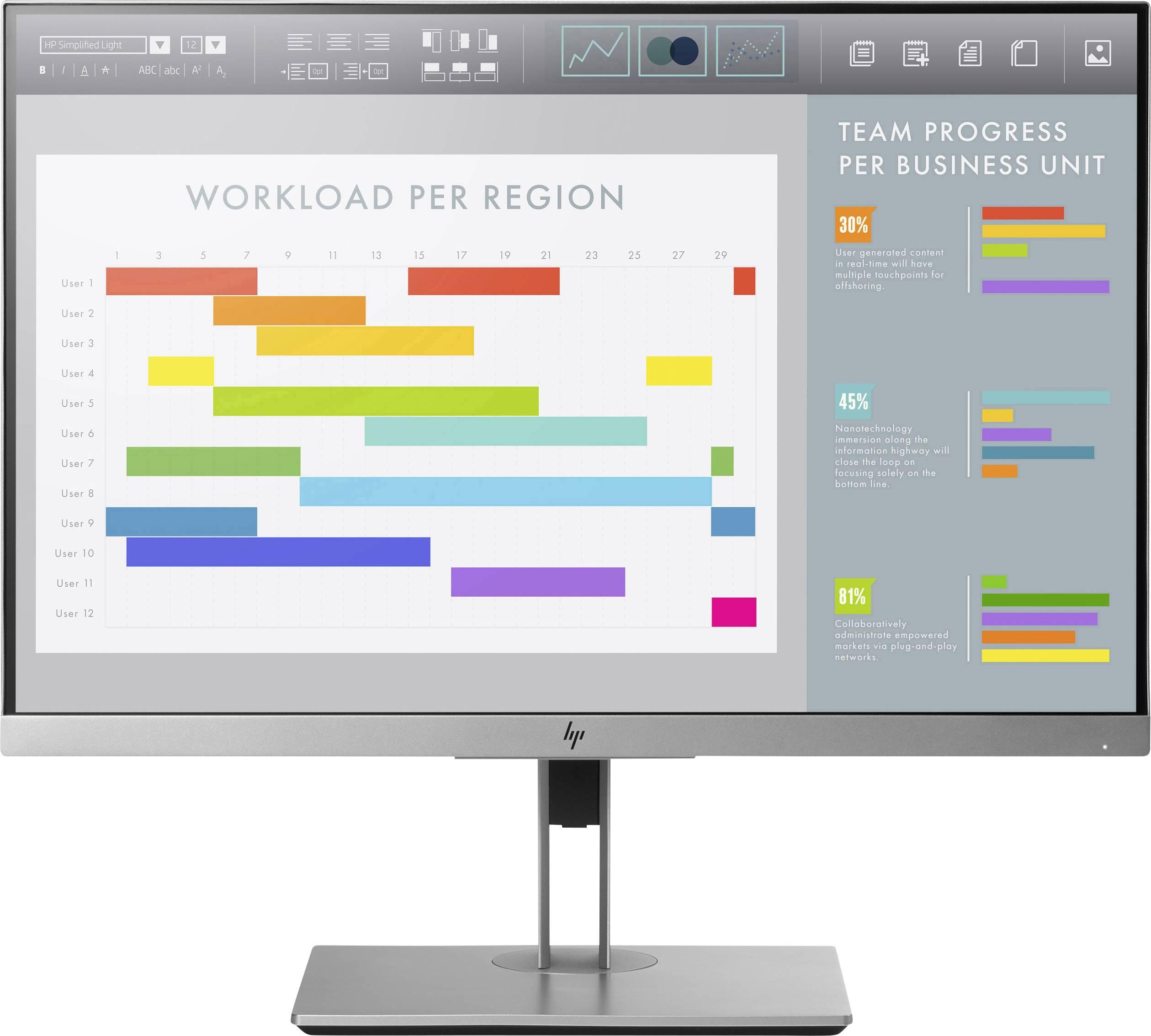 "LED monitor HP EliteDisplay E243i, 61 cm (24 ""), N/A 5 ms HDMI™, DisplayPort, VGA, USB 3.0 IPS LED"