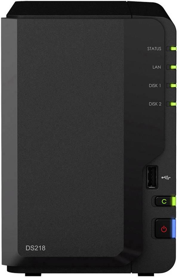 Synology Diskstation DS218, predné USB 2.0 konektor