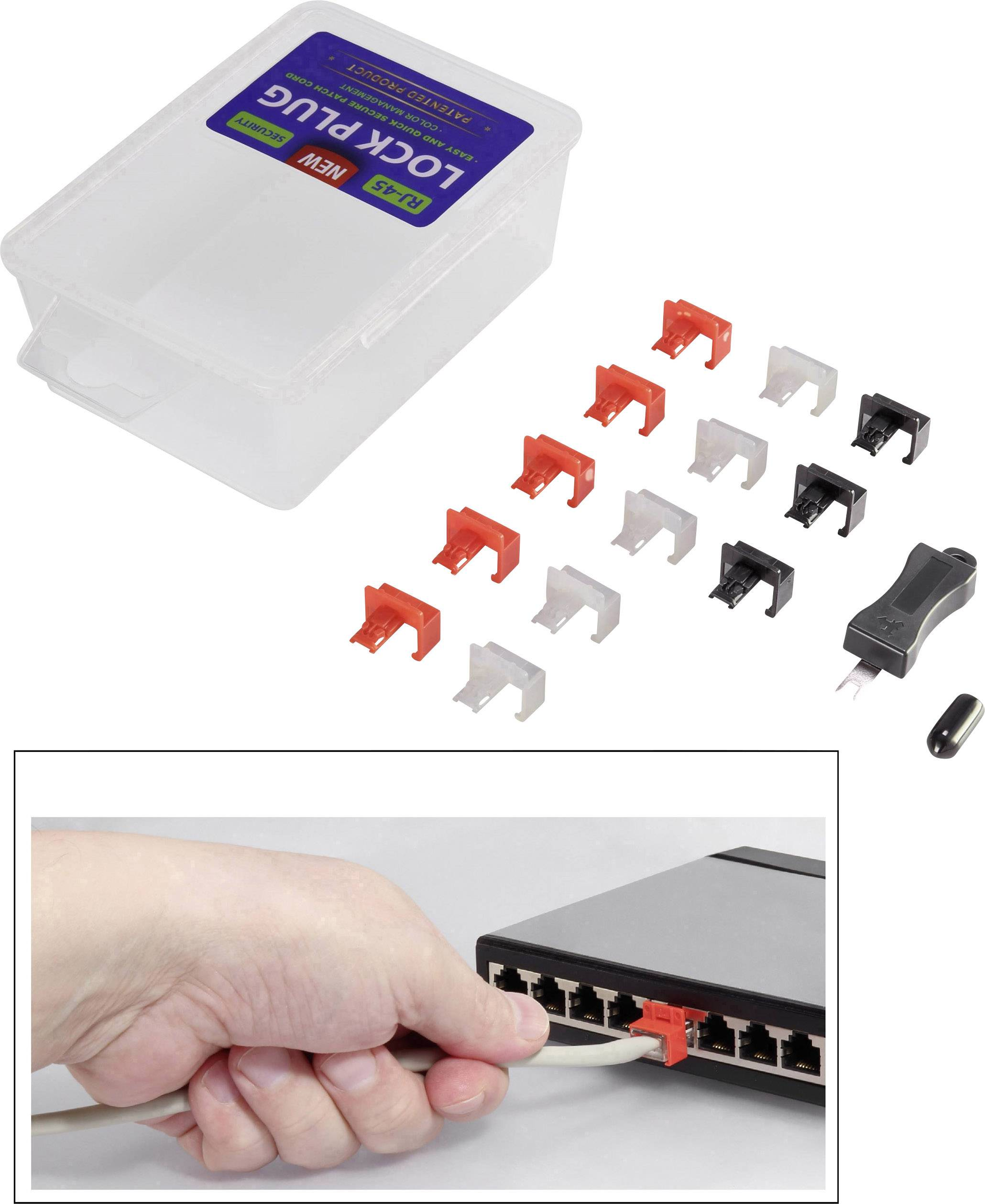 Renkforce západkami security clip sada RF NW-SC (30 ks) RF-NW-SC černá, červená, bílá Renkforce RF-4861899 30 ks