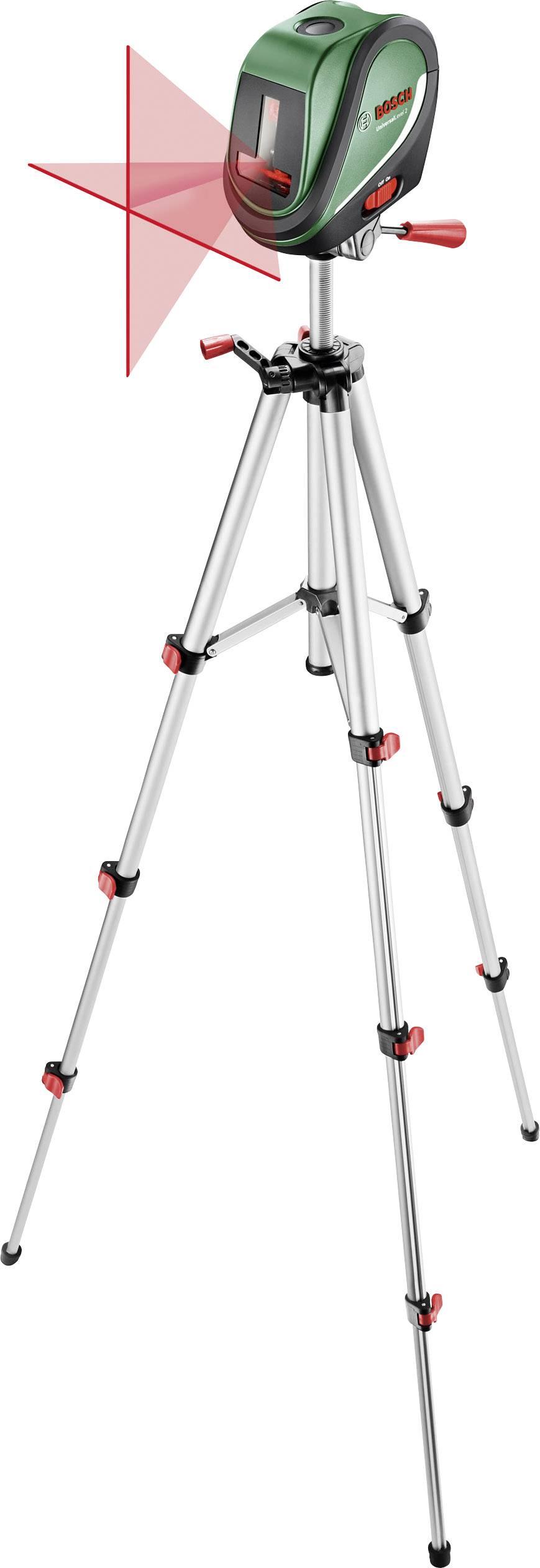 Křížový laser samonivelační, vč. stativu Bosch Home and Garden UniversalLevel 2 Set, dosah (max.): 10 m, Kalibrováno dle: bez certifikátu