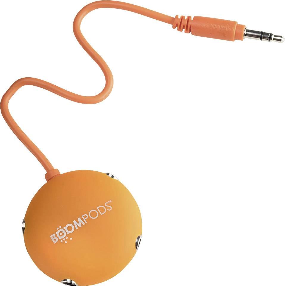 Boompods Audio Splitter AUX, oranžová
