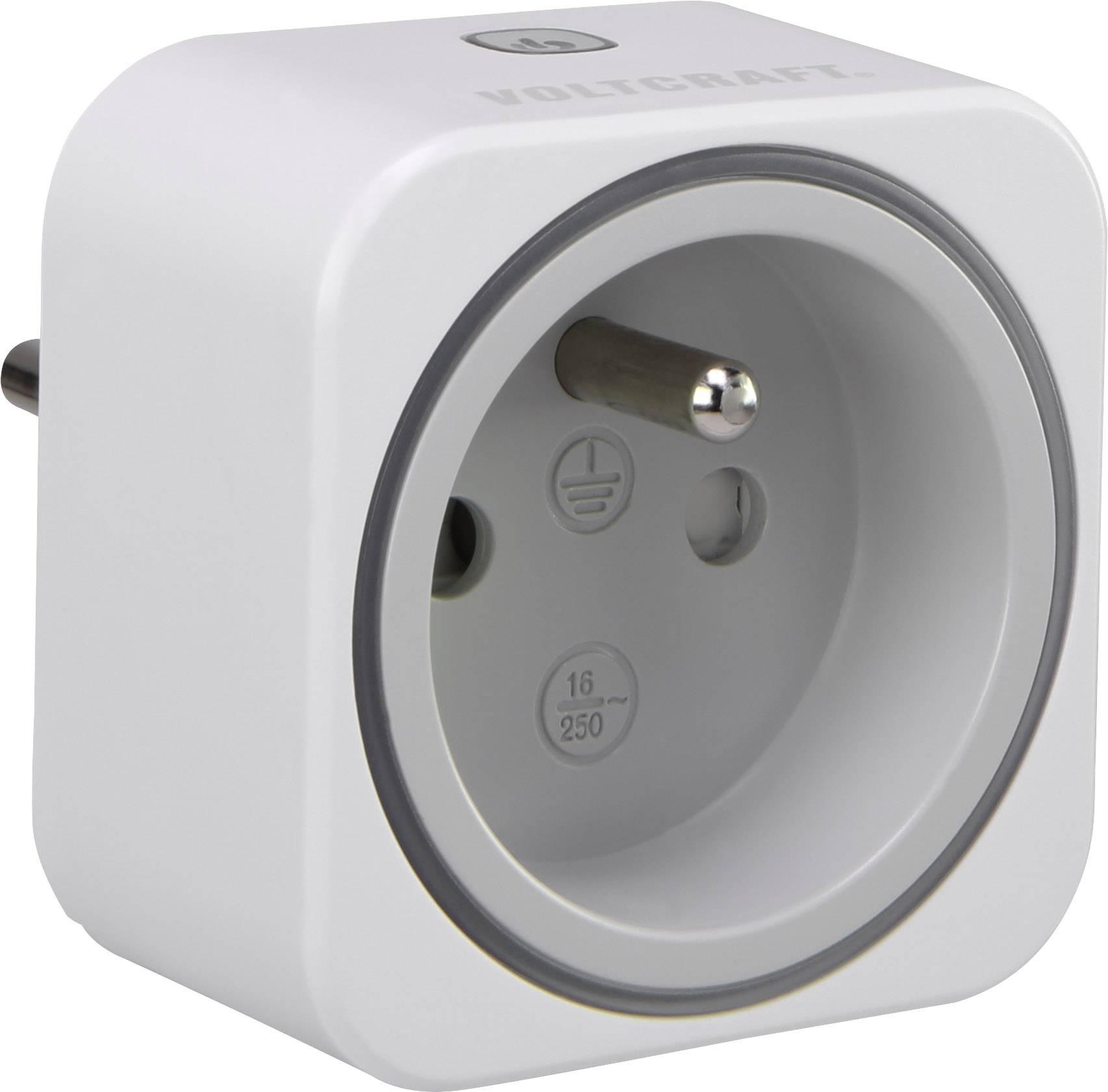 Zásuvkový měřič spotřeby el. energie a spínací zásuvka 2v1 VOLTCRAFT SEM6000 FR, s Bluetooth, CZ verze