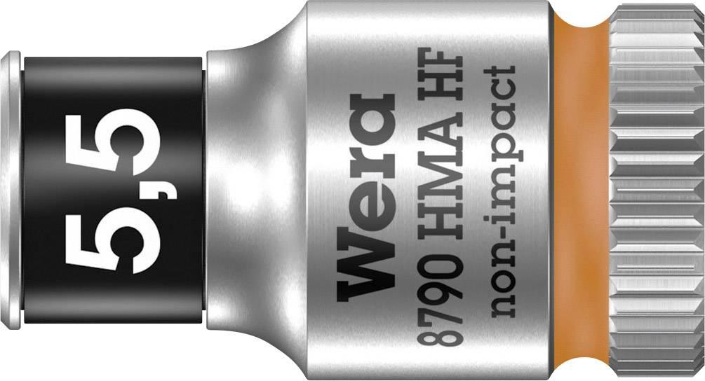 """Vložka pro nástrčný klíč Wera 8790 HMA, 5.5 mm, vnější šestihran, 1/4"""" (6,3 mm), chrom-vanadová ocel 05003720001"""
