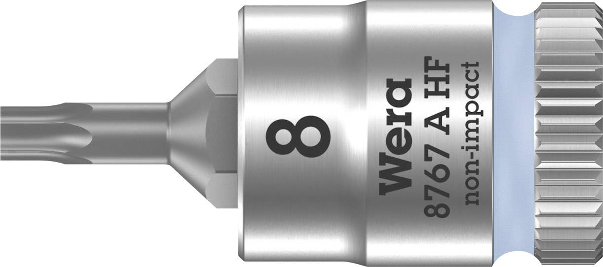 """Nástrčný kľúč, Torx Wera 8767 A 05003360001, 1/4"""" (6,3 mm), chróm-vanadiová oceľ"""