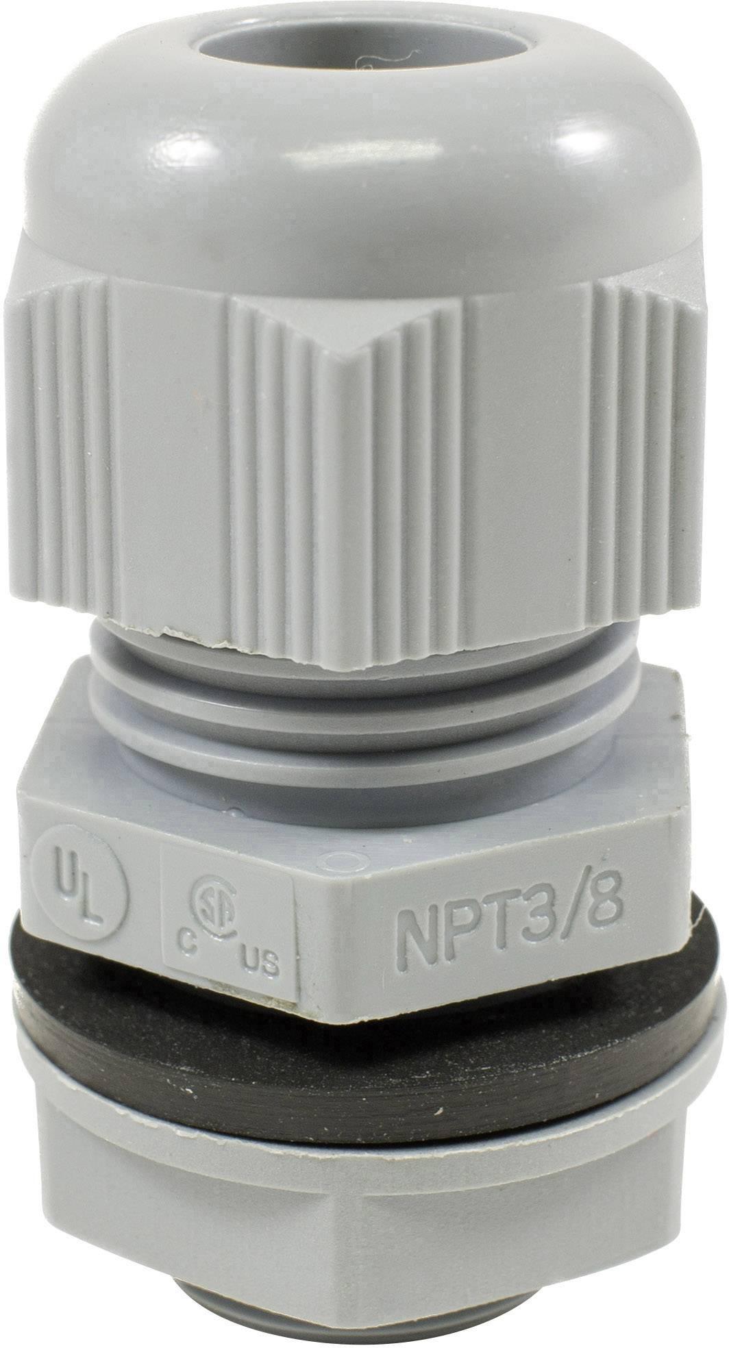 Kabelová průchodka AlphaWire PMC20 SL080, PMC20 SL080, polyamid, břidlicová šedá, 1 ks